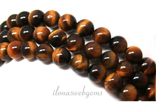 Tiger eye beads around approx. 8mm AA quality
