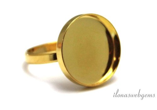 Vermeil ring voor cabochon 18mm