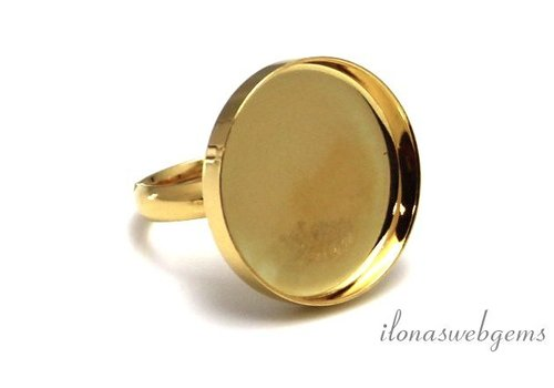 Vermeil ring for cabochon 20mm