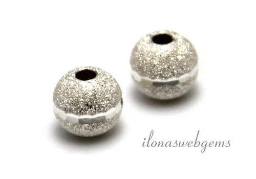 Sterling silver stardust bead edited approx. 8mm