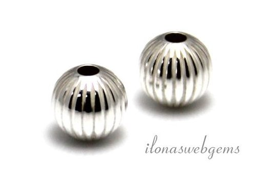 Sterling silver bead around 8mm