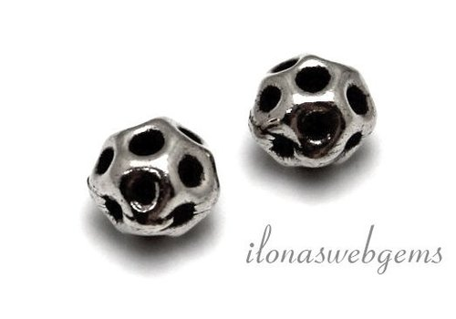 Sterling silver Hill Tribe bead