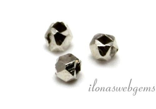 Sterling silver mirror bead bead approx. 3mm