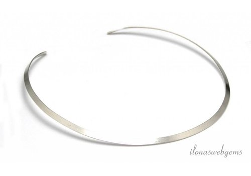 Sterling Silver Hill Tribe Choker about 36cm