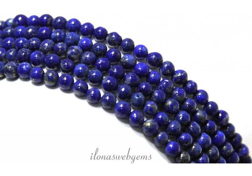 Lapis lazuli beads around approx. 4mm AA quality