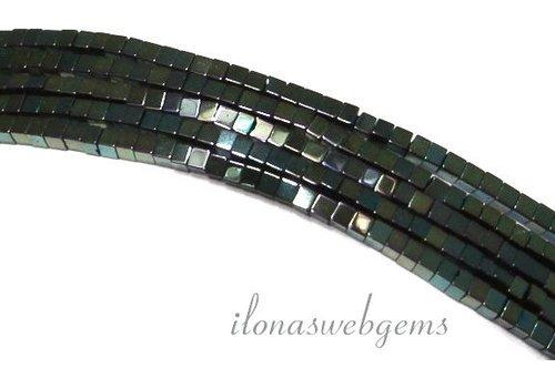 ca. 190 Stück Hämatit Perlen Mini blau-grün um 2mm
