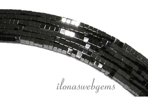 285 pieces Hematite beads mini square approx. 1.4mm
