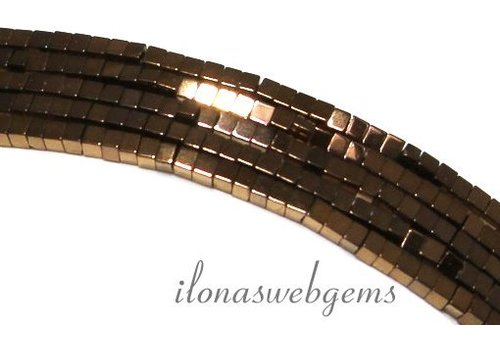 Hematite beads mini bronze approx. 1.4mm