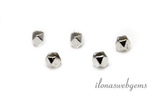 Sterling silver bead 'mirror beads' approx. 2.4x2.8mm