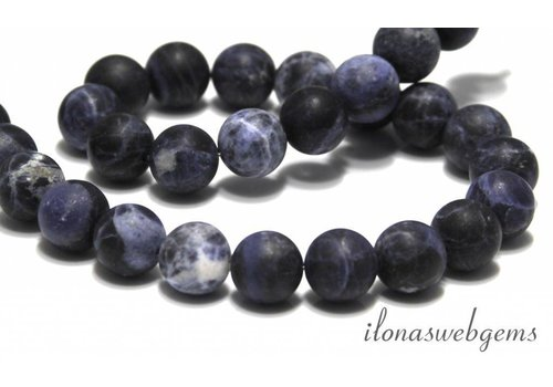 Sodalite beads mat around 12mm