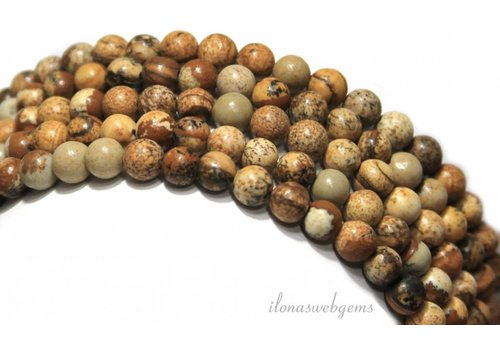 Desert Jasper beads around 8mm - Copy