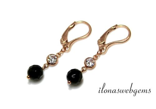 Inspiration Earrings: Rosé Goldfilled, Onyx