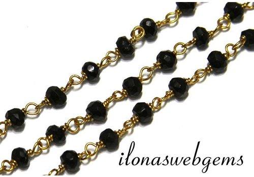 10 cm Vermeil Halskette mit Perlen Spinell