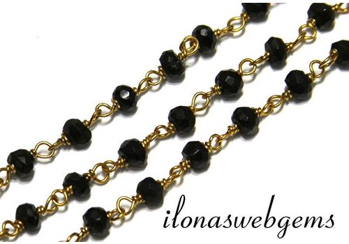 10 cm vermeil necklace with Spinel beads