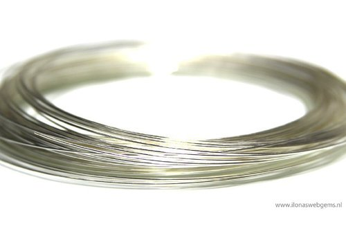 1 rol sterling zilverdraad zacht ca. 0.3mm / 28GA