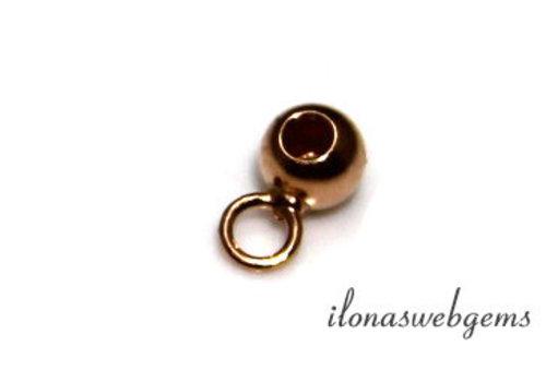 Rosé Vermeil Perle 4mm mit Öse und Loch