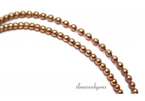 9cm Rosé Vermeil Ballett Halskette elastisch