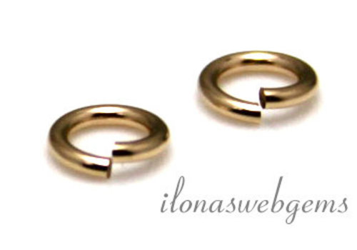 14k/20 Gold filled lock-in oogje ca. 5x0.65mm