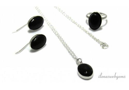 Inspiratie: Set met Obsidiaan cabochons