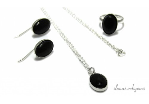Inspiration: Obsidian Set mit Cabochons