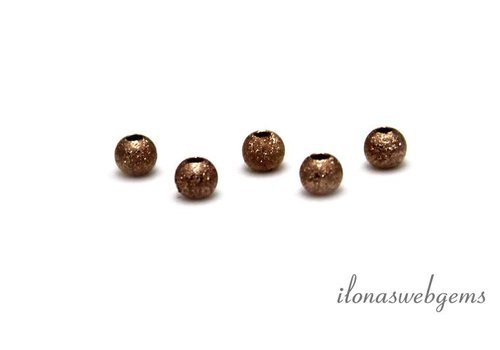 14k / 20 Rosé gold filled bead about 3mm