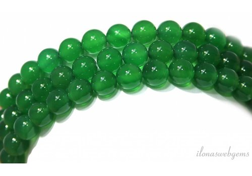 Green onyx beads around 8mm