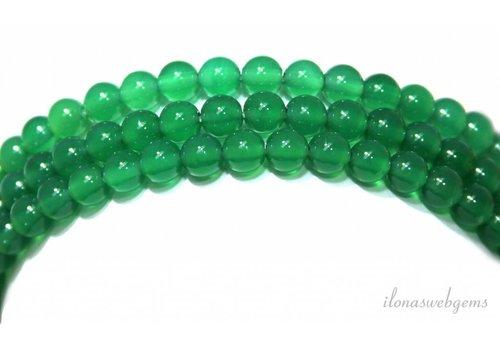 Grüne Onyxperlen um 4,5 mm