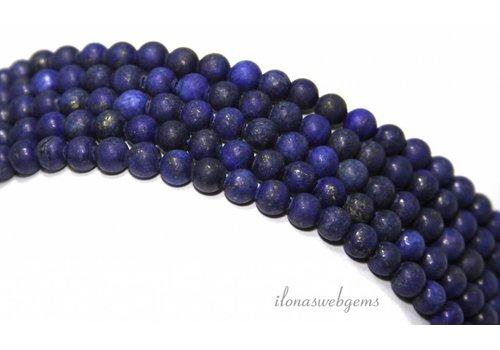 Lapis Lazuli kralen mat rond ca. 4mm