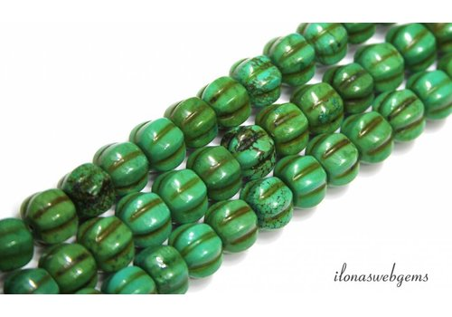 Turquoise beads 'pumpkin' approx. 10x10mm