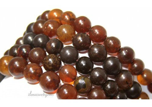 Amber / Barnstone beads around 13mm