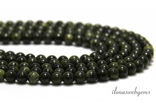 Serpentine beads around 8mm