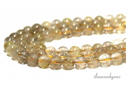 Rutile quartz beads around 8mm