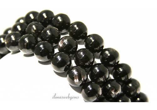 Hyperstheen beads around 12mm A-quality