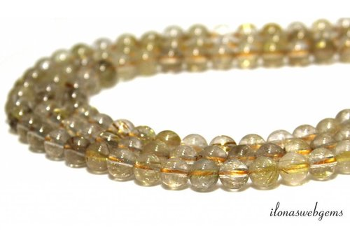 Rutile quartz beads around 8mm - Copy