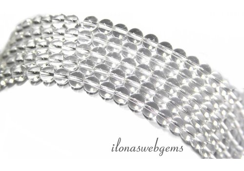 Rock crystal beads around mini about 3mm A quality