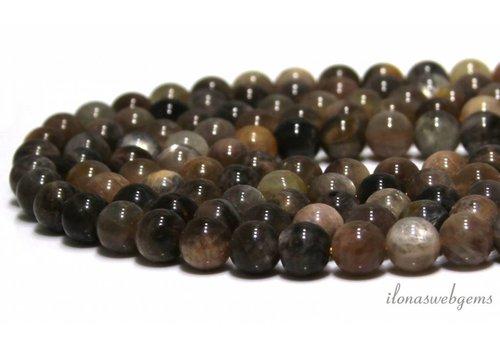 Schwarz Sunstone Perlen etwa 8mm