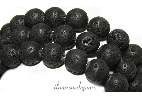 Lava stone beads around 8.5mm