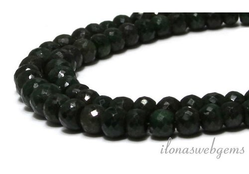 Emerald beads facet roundel A quality