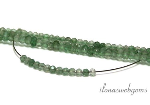 1 cm Green strawberry quartz / green strawberry quartz facet around 3mm AA quality