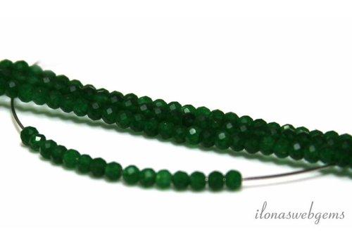 1 cm Groene jade kralen facet rond ca. 3mm AA kwaliteit