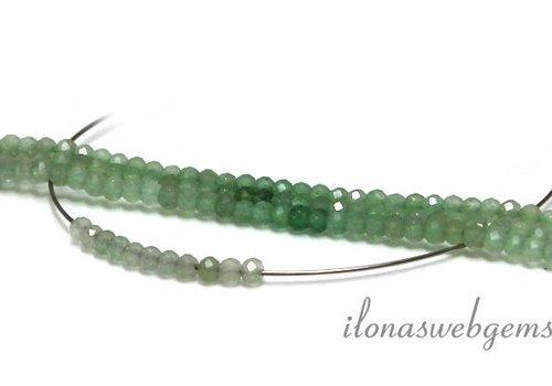 Schattierte grüne Quarz facettiert Perlen um etwa 3 mm AA Qualität