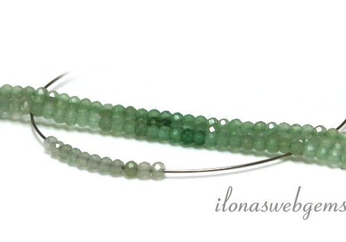 Shaded green quartz beads faceted around 3mm AA quality