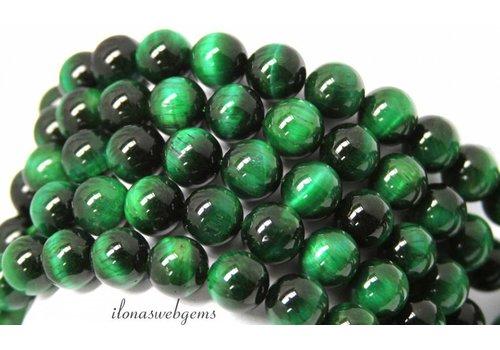 Grüne Tigereye Perlen ca. 12mm Qualität