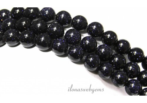 Blue Goldstone beads around 4mm