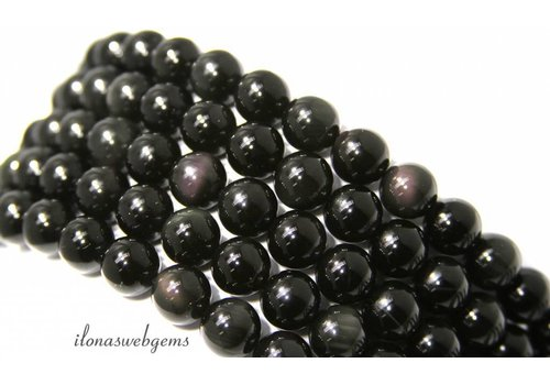 Rainbow Obsidian beads around 6mm