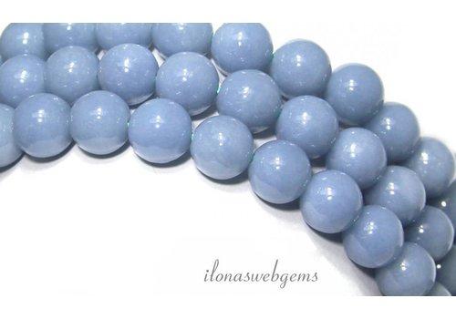 Angelite beads around 8 mm