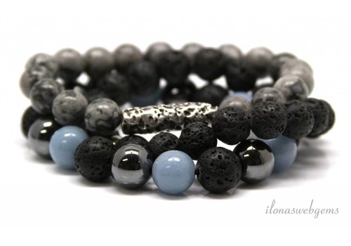 Inspiration: Beaded bracelet on elastic