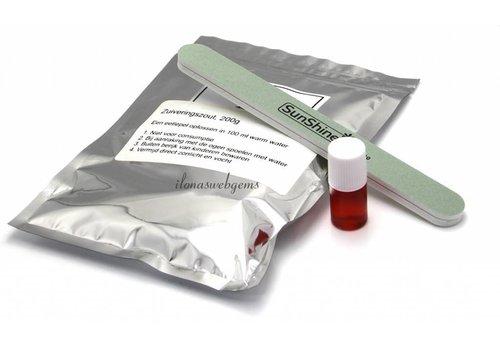 84/5000 Schwefelleber mit Polierfeile und Backpulver