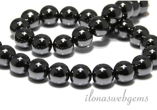 Hematite beads around 12mm A quality