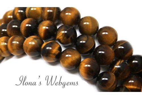 Tigerauge Perlen um 10mm A Qualität